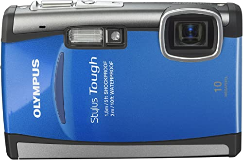 Olympus Stylus Tough-6000 10 MP Waterproof Digital Camera with 3.6x Wide Angle Optical Dual Image Stabilized Zoom and 2.7-Inch LCD Blue Discontinued by Manufacturer
