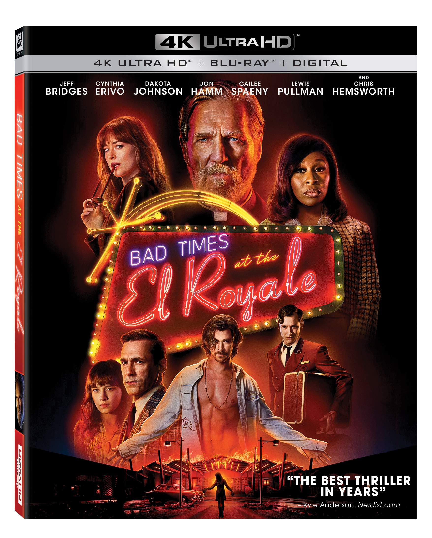 4K Blu-ray : Bad Times At The El Royale (With Blu-ray, 4K Mastering, Subtitled, Widescreen, Dolby)