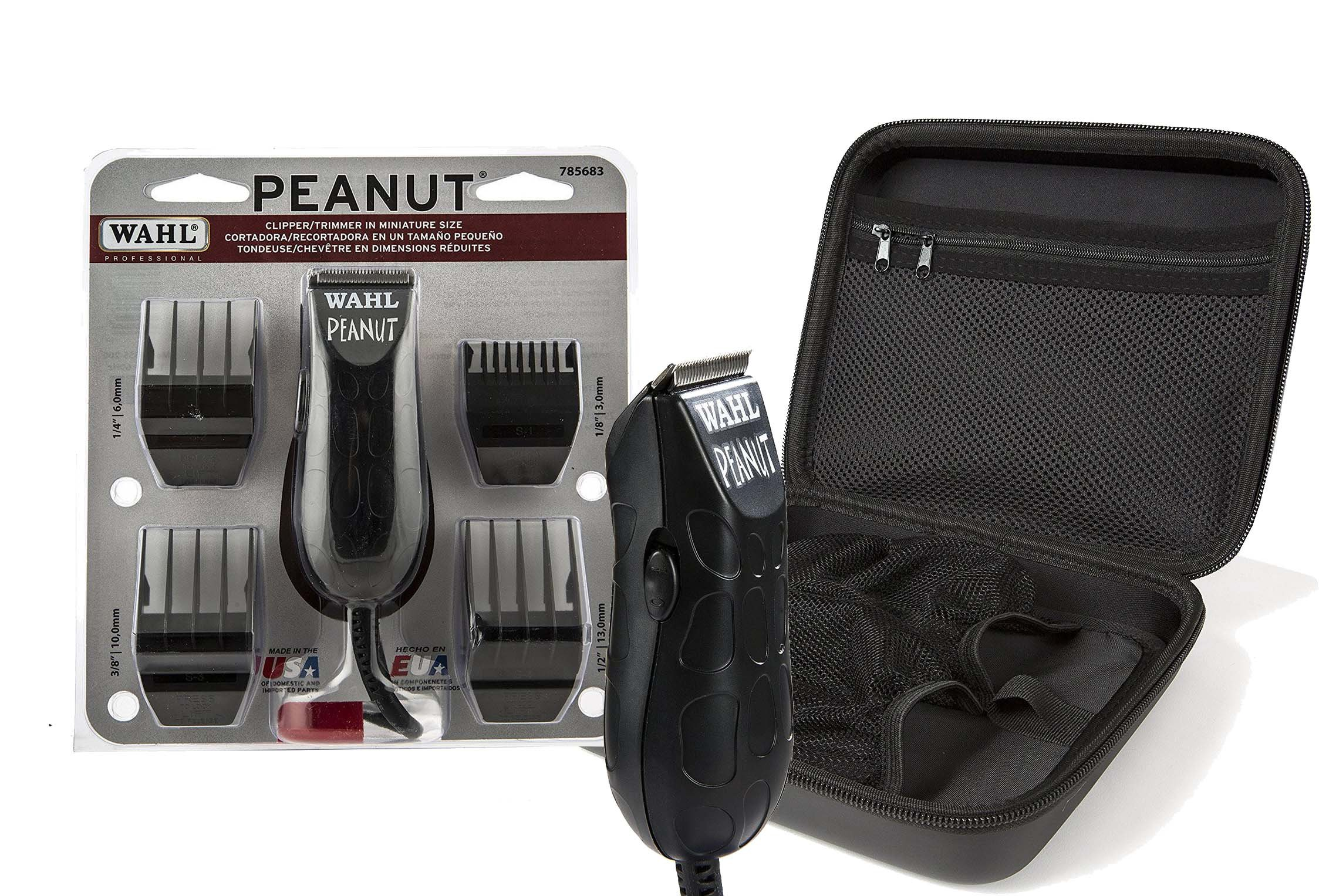 Wahl Professional Peanut Clipper/Trimmer #8655 with Travel Storage Case #90728 – Great for Barbers and Stylists
