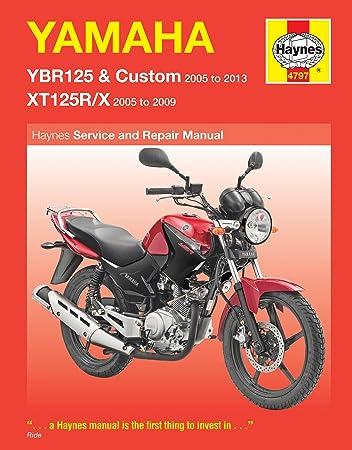 yamaha ybr125 xt125 2005 2013 haynes manual amazon co uk car rh amazon co uk Yamaha Outboard Motor Manuals Auto Repair Manual