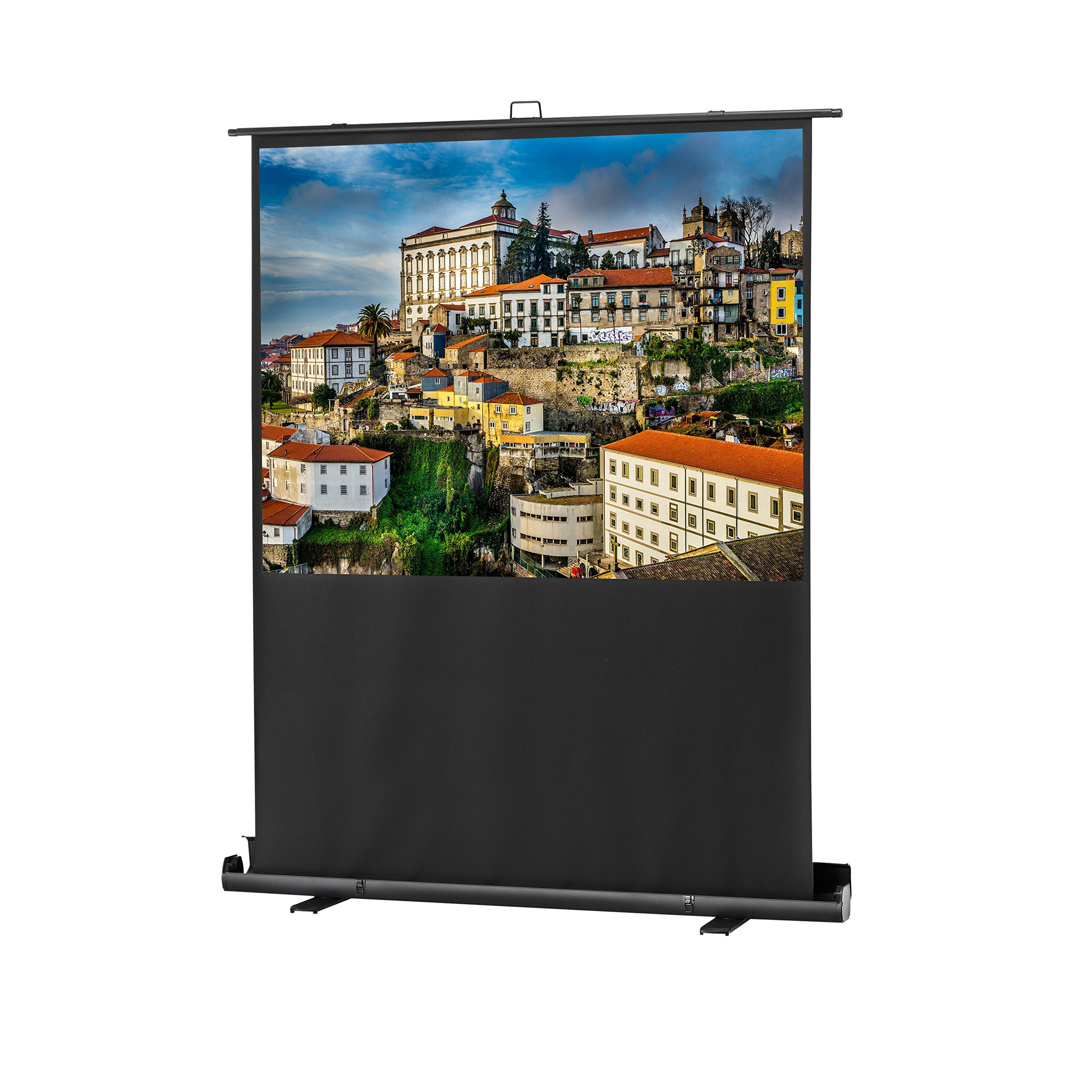 celexon 79'' Mobile Projector Screen Professional Plus | 4:3 format | Portable projector screen | 60'' x 45'' Viewing Area | Pneumatic Lift | 3-ply PVC Fabric by celexon