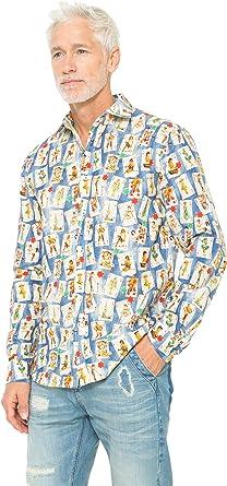 Desigual - Camisa casual - para hombre multicolor S: Amazon.es: Ropa y accesorios