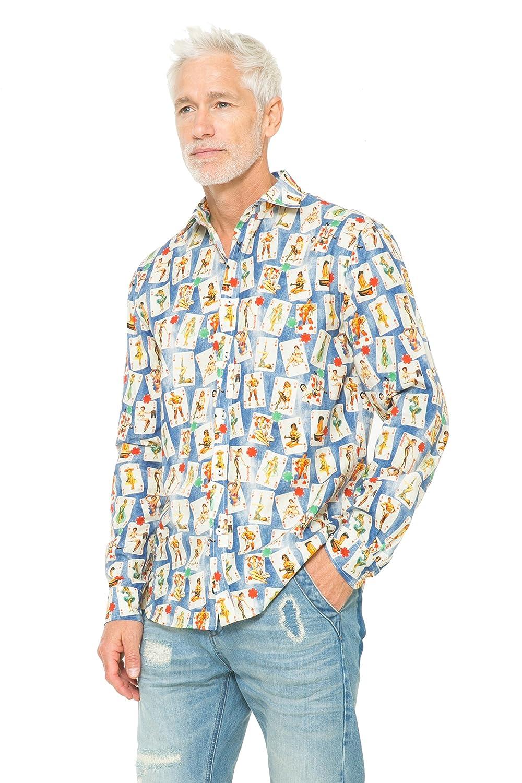 Desigual - Camisa Casual - para Hombre S: Amazon.es: Ropa y accesorios