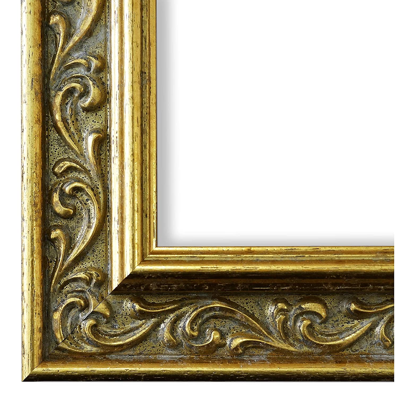 Bilderrahmen Verona 558P-ORO Gold 4,4 - LR LR LR - 60 x 90 cm - wählen Sie aus über 500 Varianten - alle Größen - Antik, Barock, Landhaus, Shabby, Verziert - Fotorahmen Urkundenrahmen Posterrahmen 26d87d