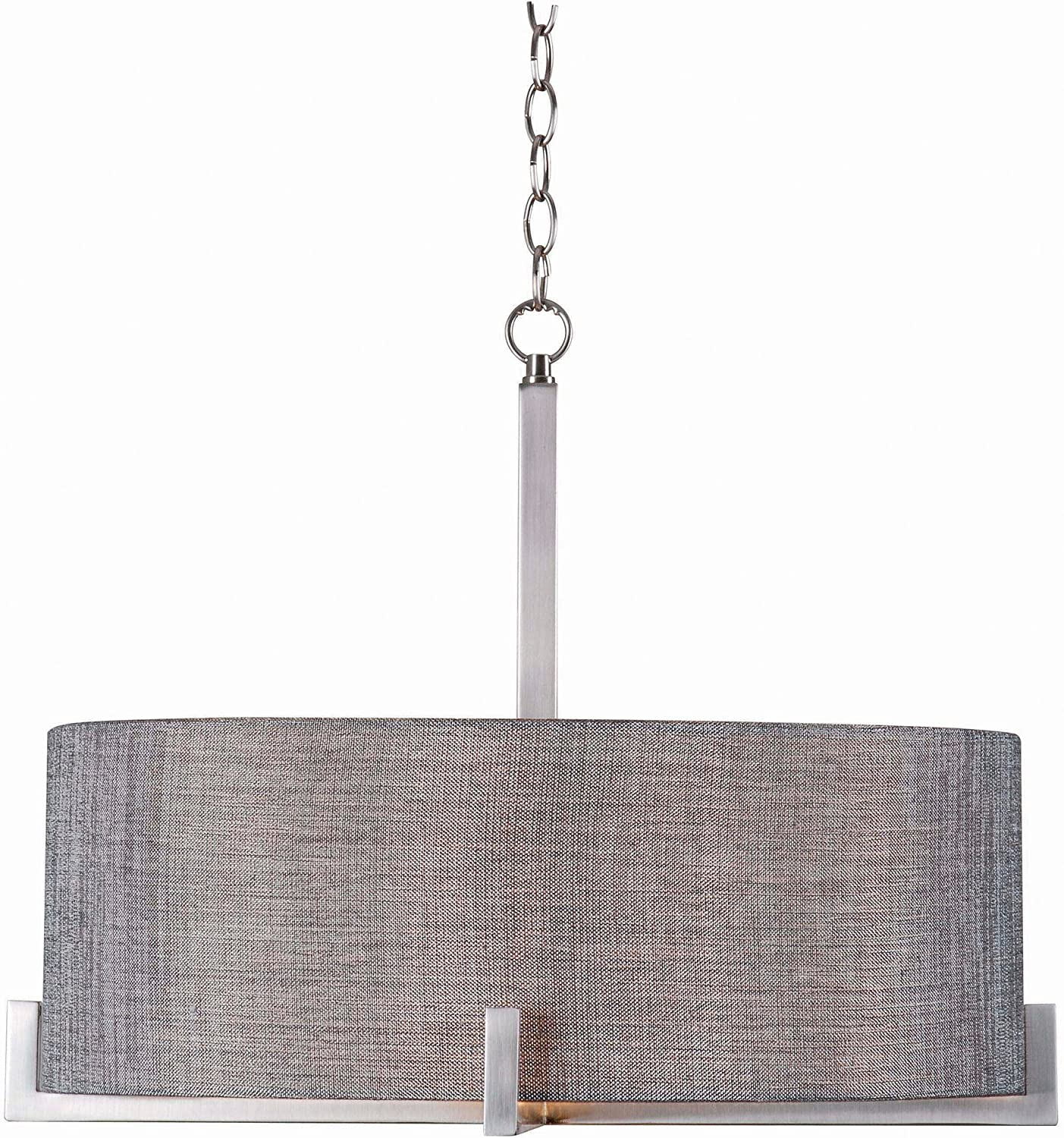 Kenroy Home 93325BS Wiley 4 Light Pendant, Silver