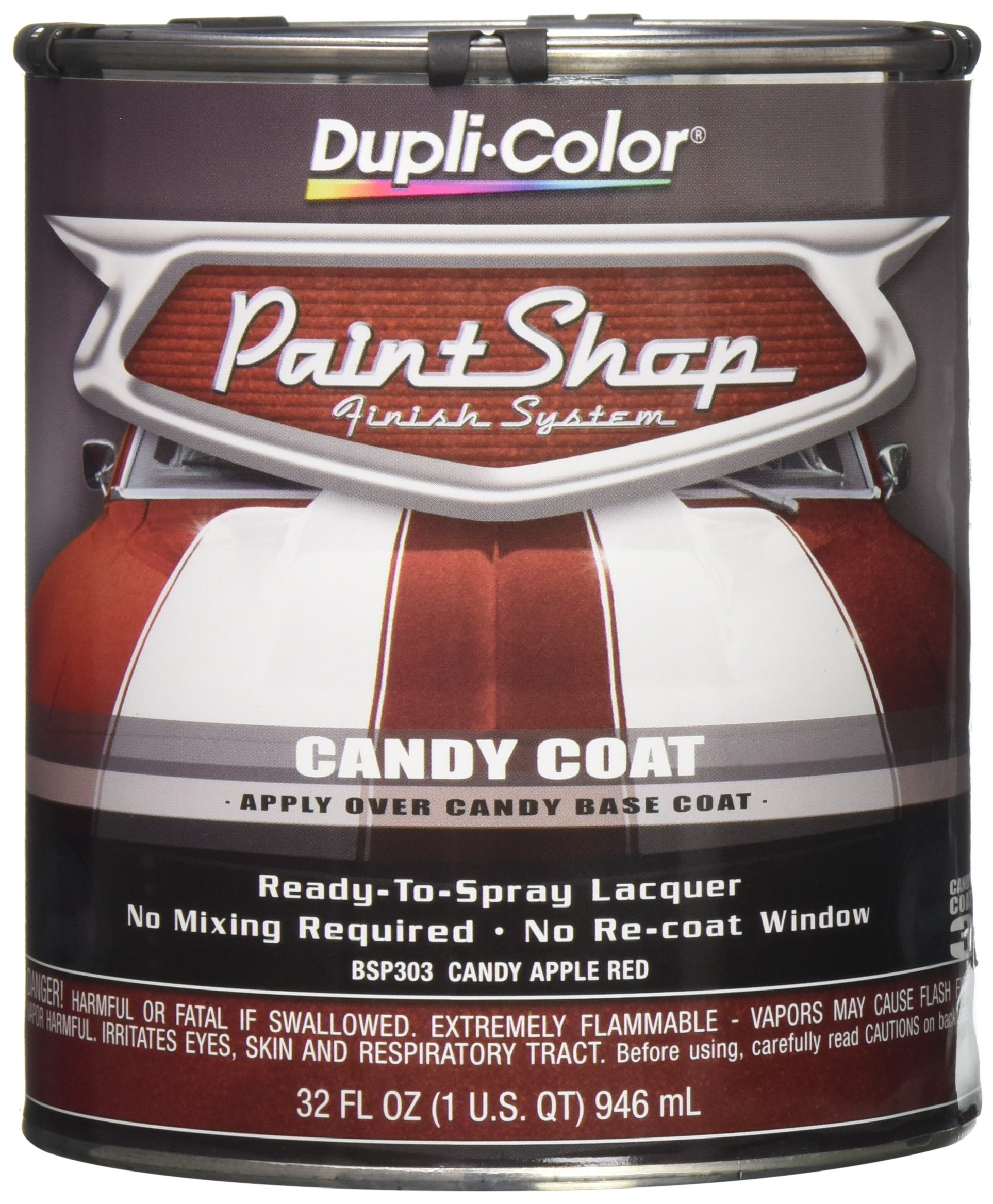 Dupli-Color BSP303 Candy Apple Red Paint Shop Finish System - 32 oz.