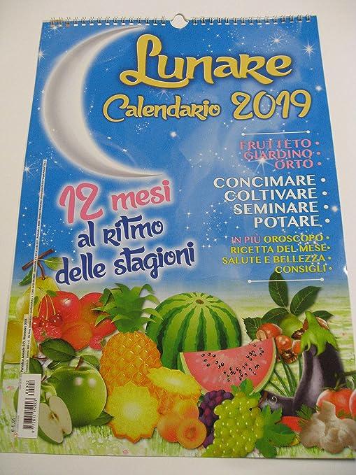 Calendario Lunare Salute E Bellezza.Calendario 2019 Lunare Da Parete In Verticale F To 42 X 29