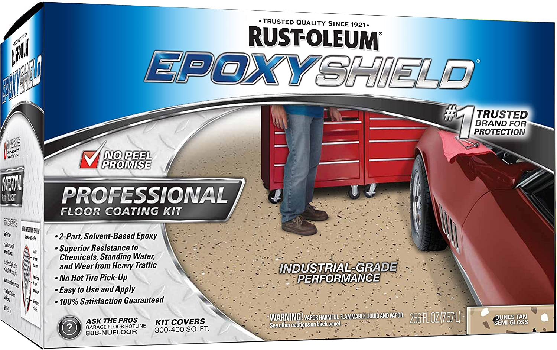 Rust Oleum 203373 Professional Floor Coating Kit Silver Gray 1
