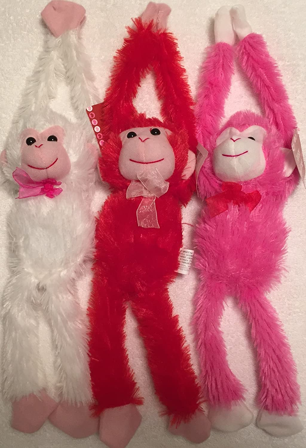 Valentine's Day plush animals monkeys