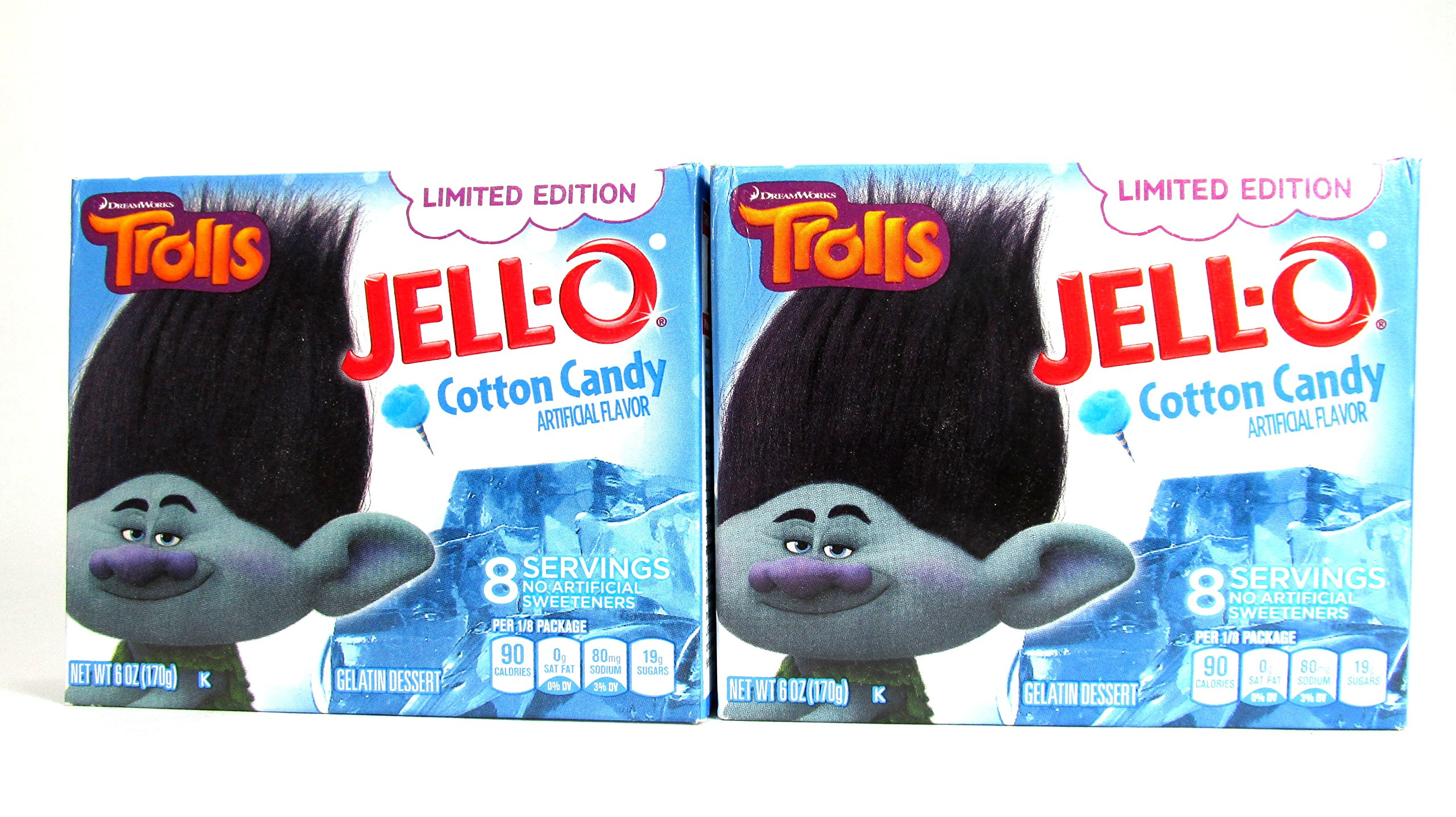 Jell-O Dreamworks Trolls Limited Edition Cotton Candy Gelatin (Cotton Candy, 2)