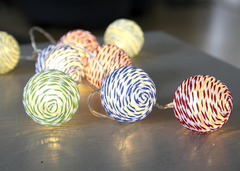 75 225/cm 10/LED /à Piles D/écoration Papier Fleur Jardin Lumi/ère cha/îne/ Star/ /Blanc /728
