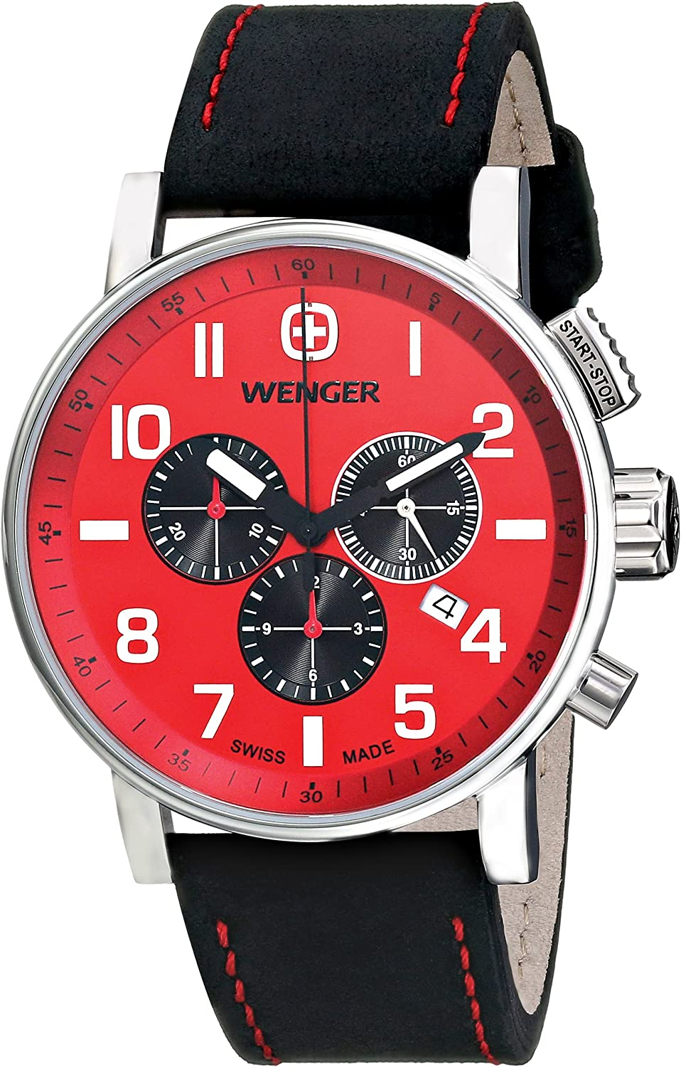 Wenger Men s 01.1243.103 Commando Chrono Analog Display Swiss Quartz Black Watch