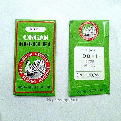 ORGAN. Agujas para máquina de coser industrial DBX1 todos los tamaños disponibles. 140/22