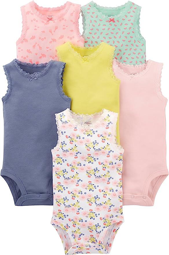 /ärmellos Unisex Baby Body Baumwolle 4er-Pack