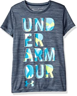 dcf8186e Amazon.com: Under Armour Girls Solid Big Logo Short Sleeve T-Shirt ...