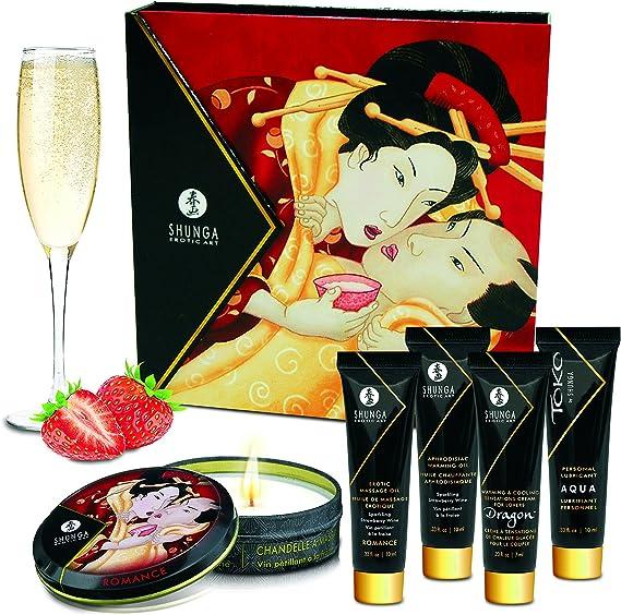 Shunga Geishas Secret Collection Strawberry Aceite de Masaje - 1 Pack: SHUNGA: Amazon.es: Salud y cuidado personal