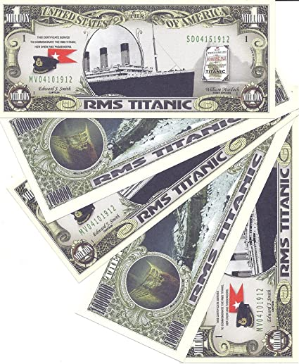 RMS Titanic Million Dollar Novelty Money