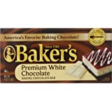Baker's Premium White Chocolate, Baking Chocolate Bar, 4.0 Ounce (Pack of 12)