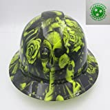 Wet Works Imaging Customized Pyramex Full Brim Green No Love All Hustle Hard Hat With Ratcheting Suspension