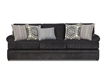 Fantastic Simmons Upholstery 8530Br 03 Bellamy Slate Sofa Theyellowbook Wood Chair Design Ideas Theyellowbookinfo