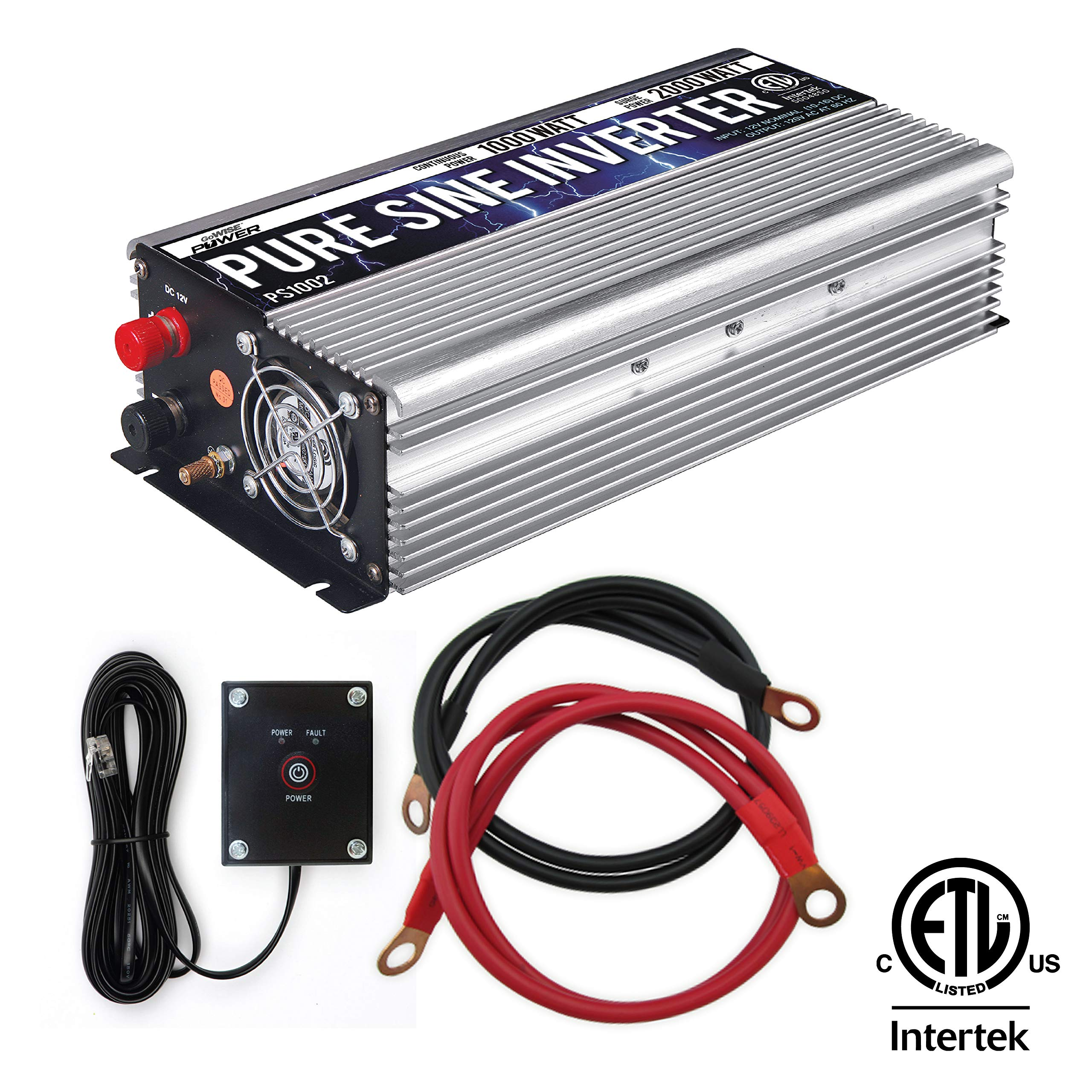 GoWISE Power PS1002 Pure SINE Wave Inverter 1000W Cont/2000W Peak by GoWISE Power