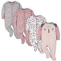 baby-girls 4 Pack Sleep 'N Play Footie