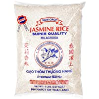 DOUBLE HORSES Jasmine Rice Long Grain White Rice,5 Pounds Bag (5 pound)