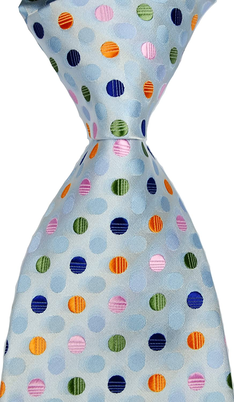 Best Collection New Classic Polka Dot Jacquard Woven Silk Men's Tie Necktie