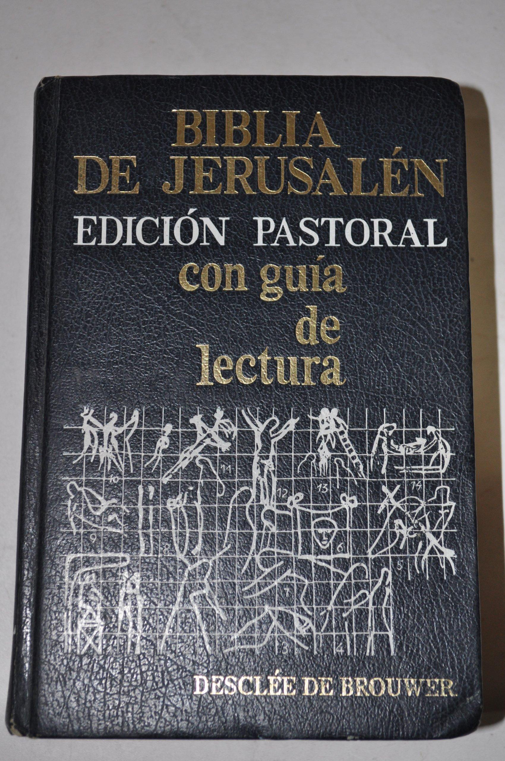 Biblia de Jerusalén. Ed. pastoral: Amazon.es: Biblia: Libros