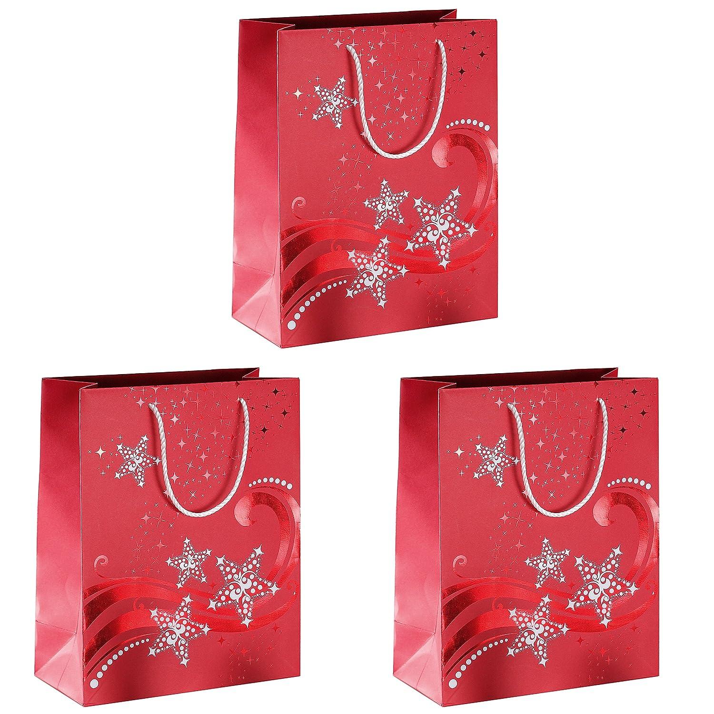 4er Set Edle Geschenkt/üten Wei/ß//Gold Geschenkverpackung Geschenk Weihnachten Pr/äsent-Tasche 4er Set Geschenkt/üten 26 x 32 x 10 cm