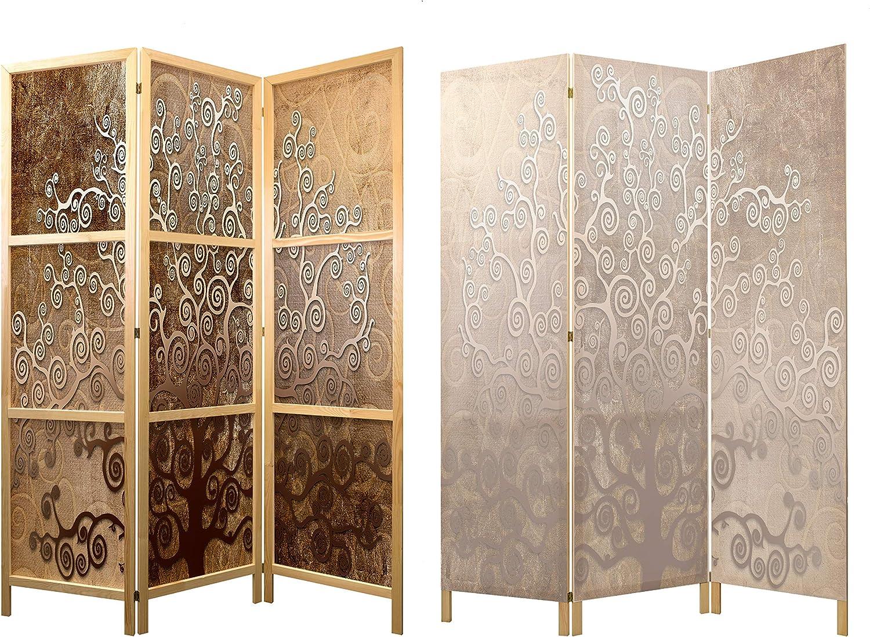 murando - Biombo Arbol Abstracto 135x171 cm 3 Paneles Lienzo de ...