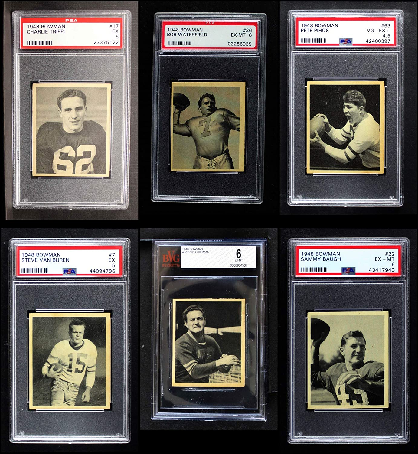 1948 Bowman Football Almost Complete Satz (Football Set) Dean'S Cards 6 - Ex/Mt