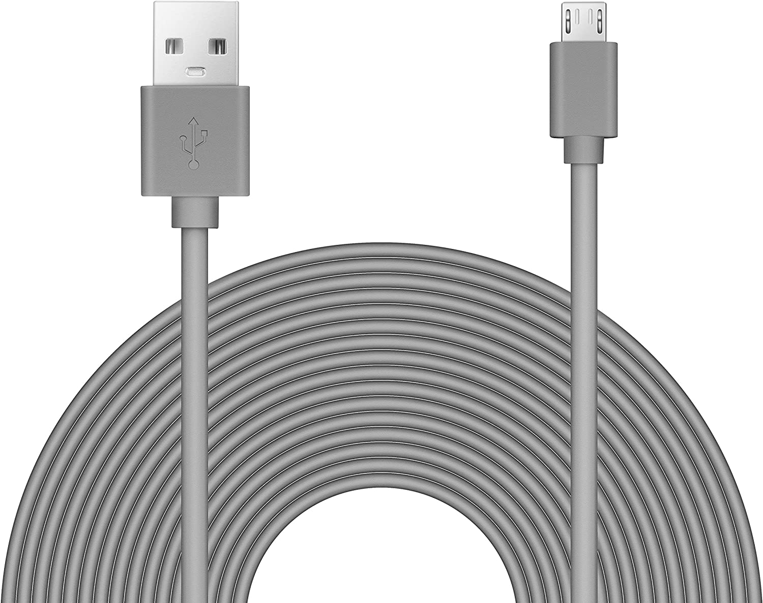 25ft Power Extension Cable Compatible with Blink Mini, Wyze, Playstation, Yi Dome, Home Camera - Charcoal