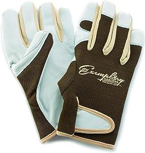 Leather Gardening Gloves for Women and Men. Adjustable Fastener and Breathable Spandex Back. Ideal for General Garden Tasks (Extra Large)