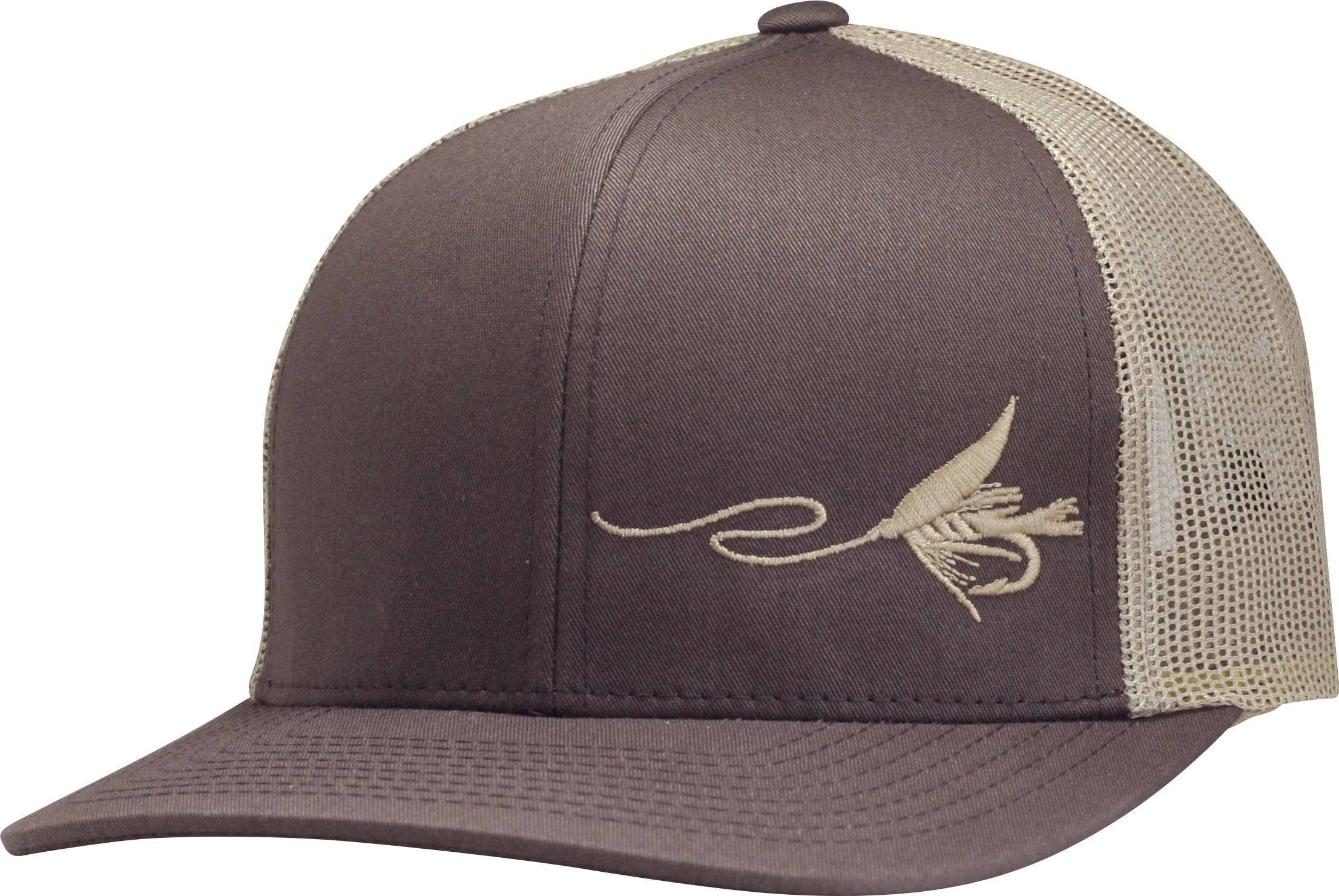 Lindo Trucker Hat - Fly Fishing (Brown tan) 1a9132dda67