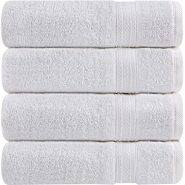 Utopia Towels Cotton Hand Towels, 4 Pack Towels, 700 GSM, White