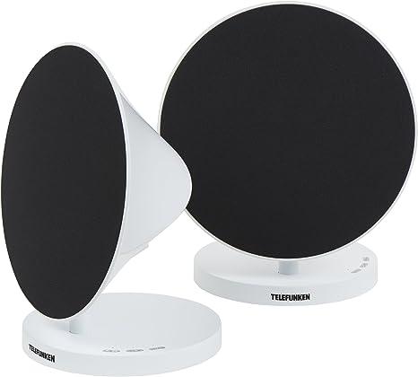 Par de Altavoces Telefunken BS1012ST con Bluetooth (estéreo, Entrada Auxiliar, función de Manos Libres y batería integrada): Amazon.es: Electrónica