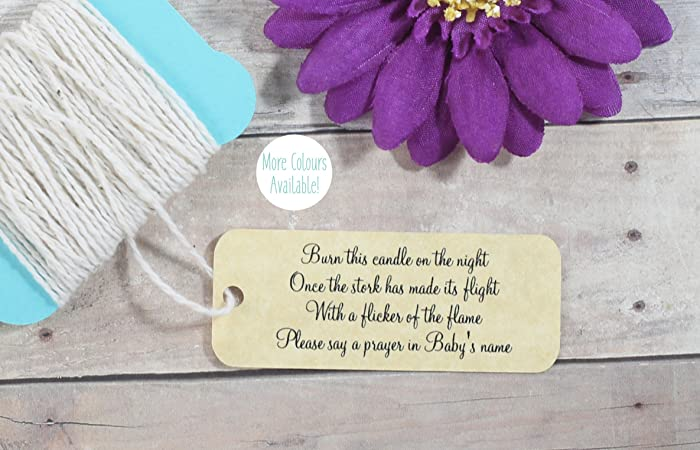 Amazon Com Antique Gold Baby Shower Favor Tags Candle Gift Tags