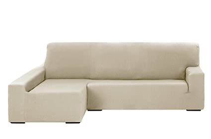 Martina Home Tunez Funda Elástica para Sofá Chaise Longue, Brazo Izquierdo, color Marfil, tamaño desde 240 a 280 cm
