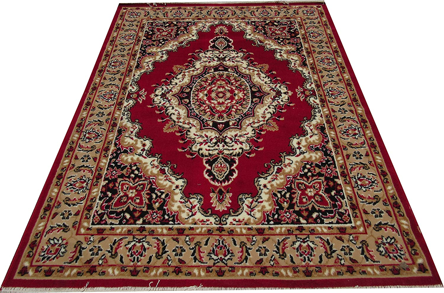 Buy Zia Carpets Most Prefer Floral Design Carpet 5 X7 (150X200 cm.) Red Online at Low Prices in India - Amazon.in
