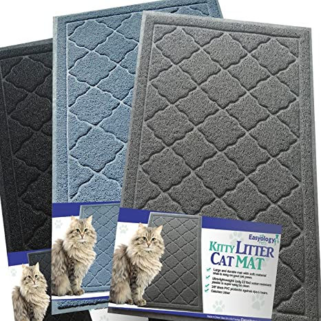 Easyology Alfombra para Gatos, tamao sper Grande, Suave al Tacto Light Gray