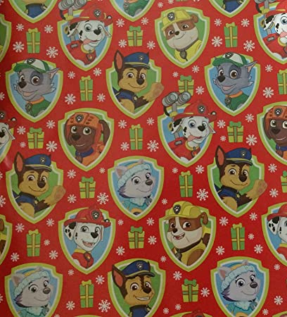 Image Unavailable Not Available For Color Disney Paw Patrol Christmas Gift Wrap