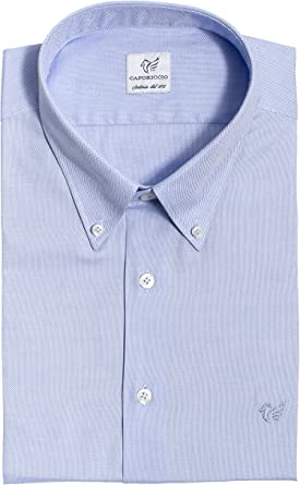 CAPORICCIO - Camisa Casual - Liso - Manga Larga - para Hombre ...