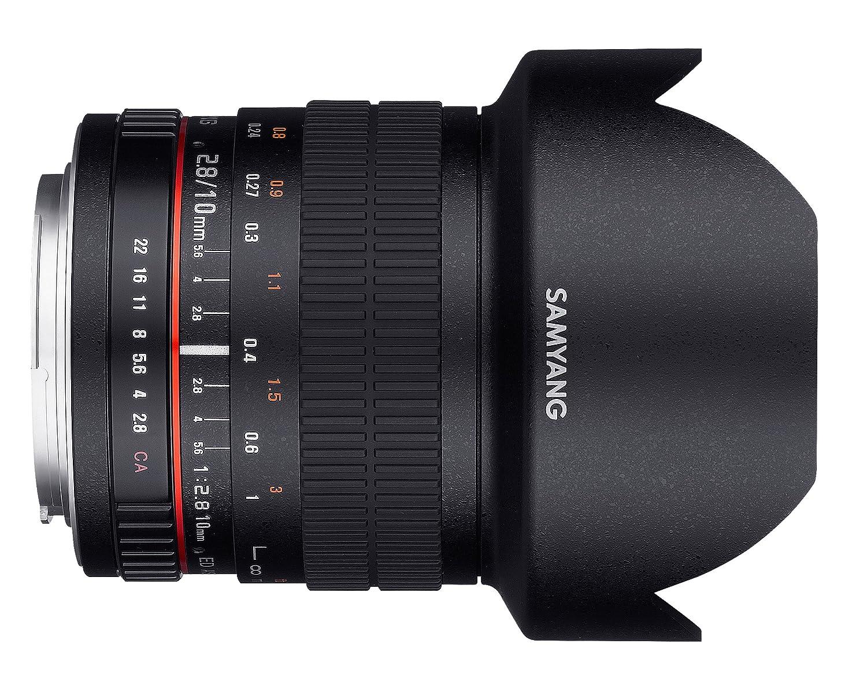 Negro Distancia Focal Fija 10mm, Apertura f//2.8-22 ED AS NCS CS Samyang F1120404101 Objetivo fotogr/áfico DSLR para Pentax