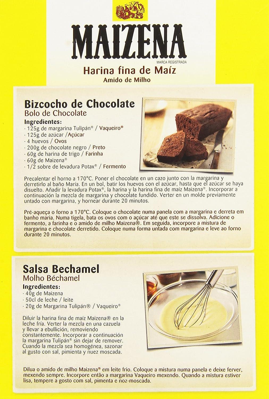 Maizena - Harina fina de maíz, 400 g: Amazon.es: Alimentación y ...