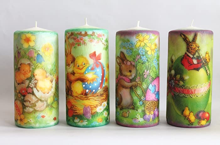 Easter candles decoupage candles easter decor easter gift ideas easter candles decoupage candles easter decor easter gift ideas home decor negle Choice Image