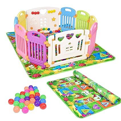 43ecd4f020e5 Recinto da Gioco Bambini in Plastica Non Tossica, Box per Bambini Safe &  Care con 10 ...