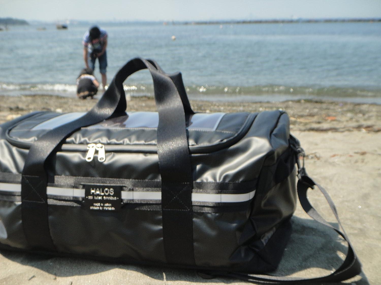 【HALOS】ボストンバッグ ソーラーパネル搭載 メンズ 大容量 アウトドア 旅行に   B009WJEEE8