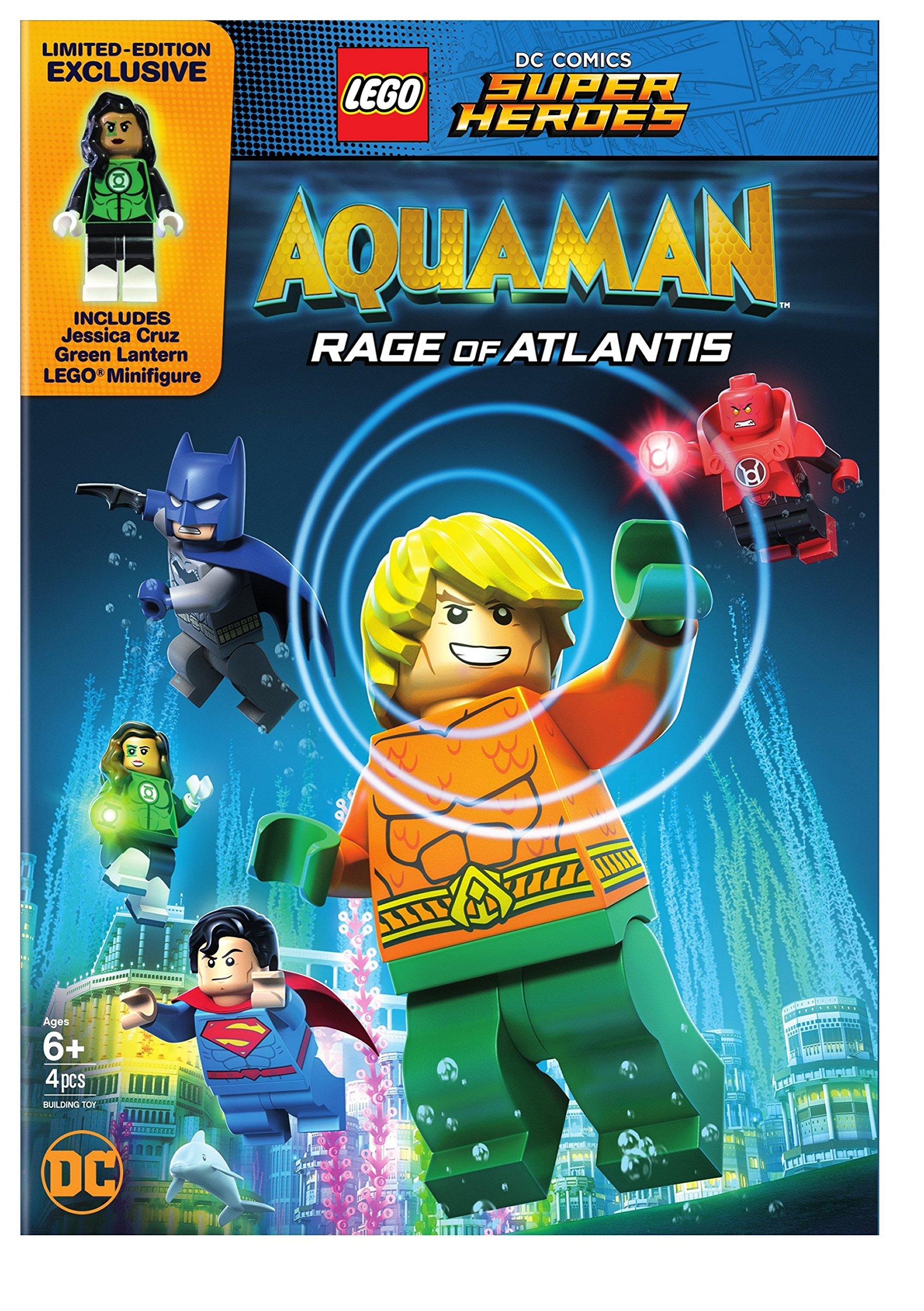 DVD : Lego Dc Super Heroes: Aquaman: Rage Of Atlantis (w/ Mini Figurine) (Figure, Dolby)