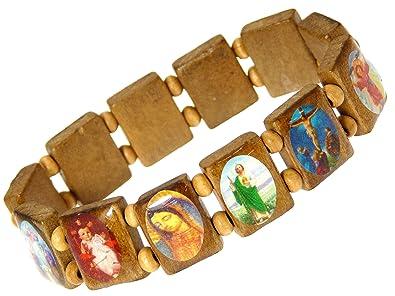 marchio popolare Prezzo del 50% selezione premium Elastico santi di legno braccialetto / gesù / tutti i santi ...